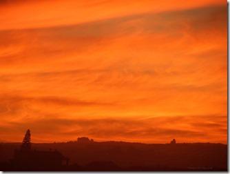 sunset in stilbaai