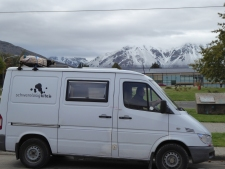snow caped mountains surrounding Esquel